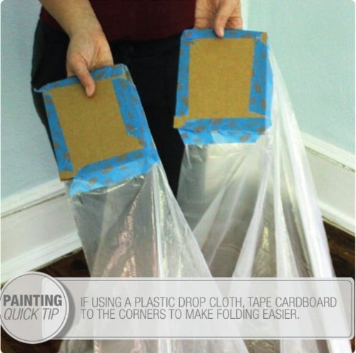 Create Solid Drop Cloth Corners