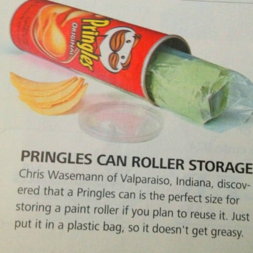 Store Rollers In Pringles Cans