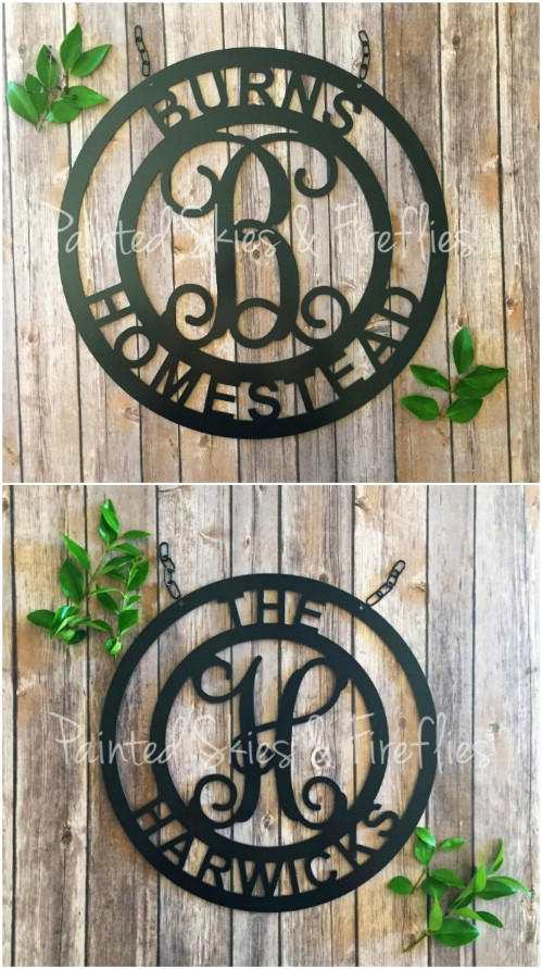 Monogrammed Fence Décor