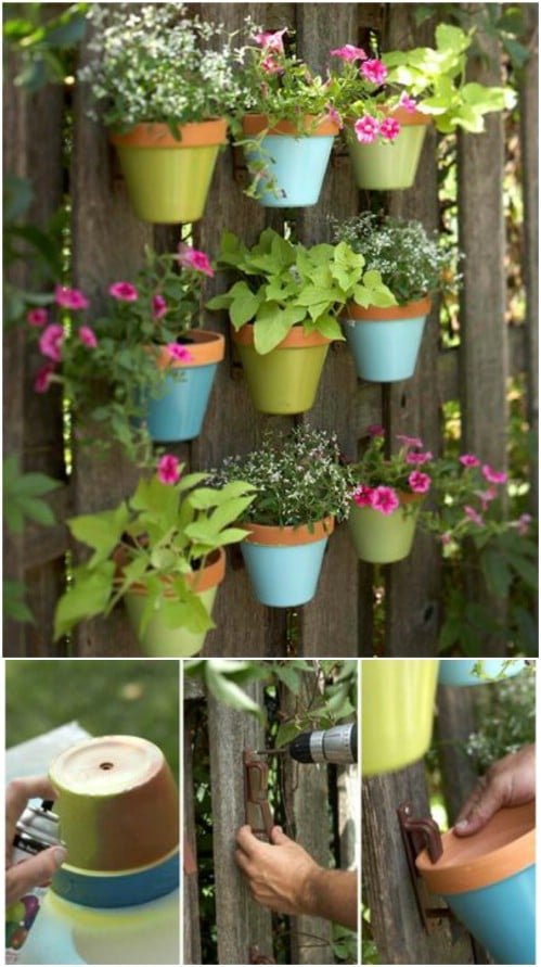 Painted Terra Cotta Plant Hangers