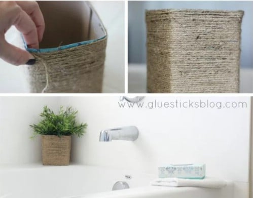 Easy Tissue Box Planter