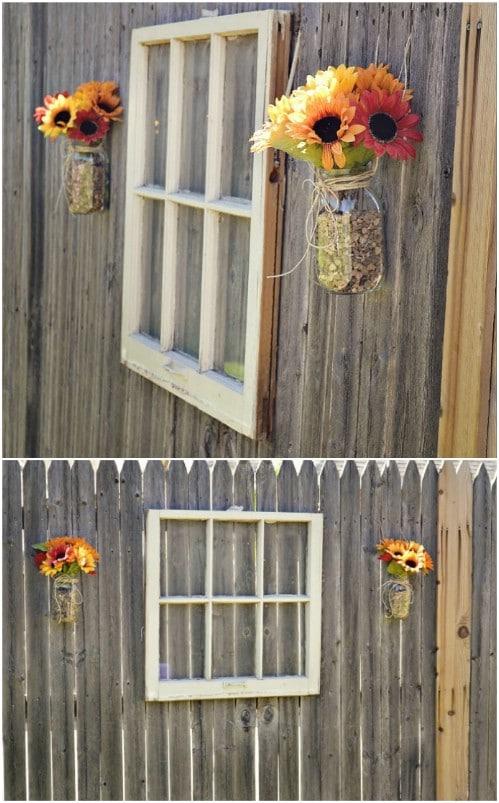 Friendly Window Display Fence Décor