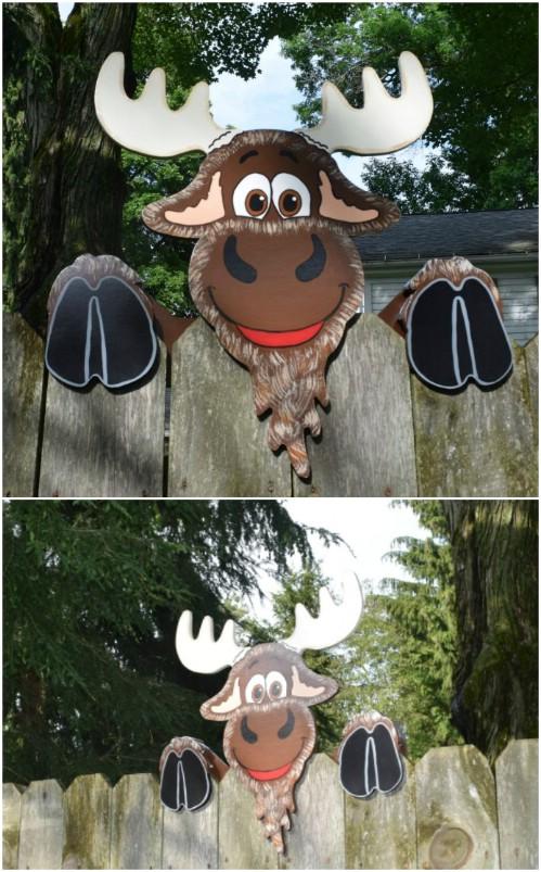 Whimsical Animal Fence Decorations