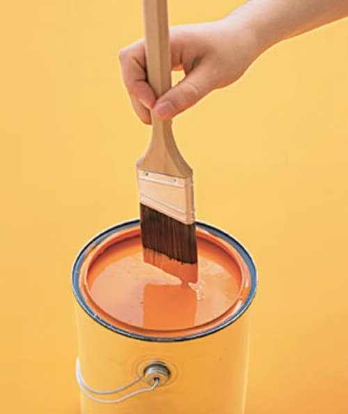 Keep Paint From Drying Out With Plastic Wrap
