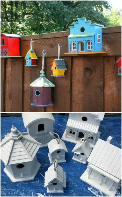 Birdhouse Fence Décor