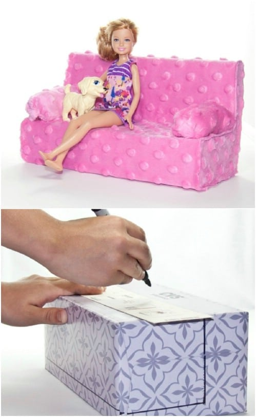 Cool DIY Barbie Couch