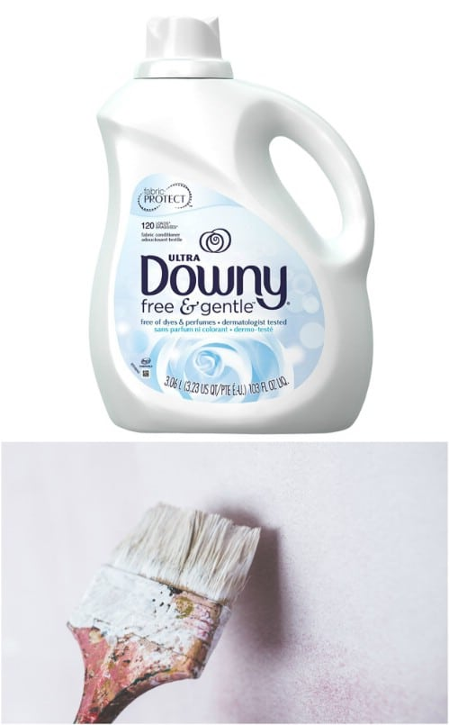 Use Fabric Softener For Cleaning Brushes