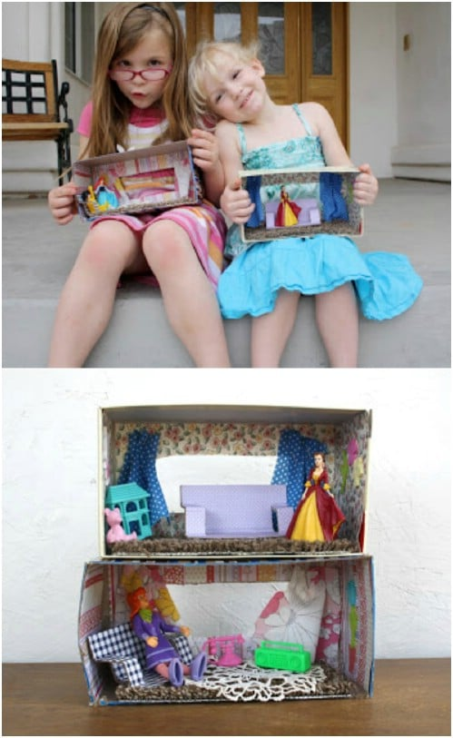 Upcycled Tissue Box Dollhouse