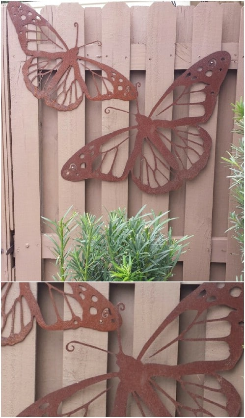 Easy DIY Fence Butterflies