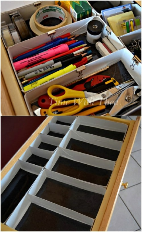 Inexpensive DIY Drawer Organizers