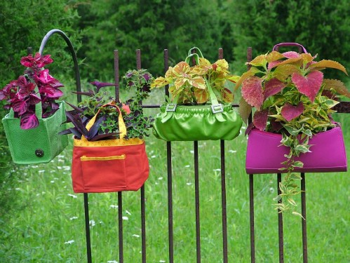 Colorful Bag Planters