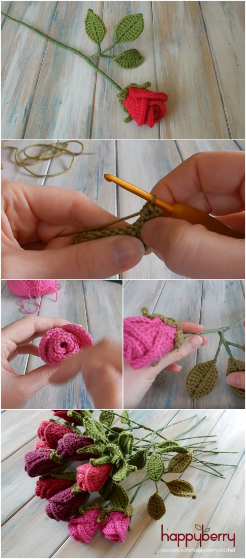 How to Easily Create Gorgeous Crocheted Roses - Video Tutorial + Free Pattern
