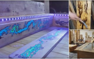 How to Build This Rustic DIY Glow in the Dark Pallet Coffee Table