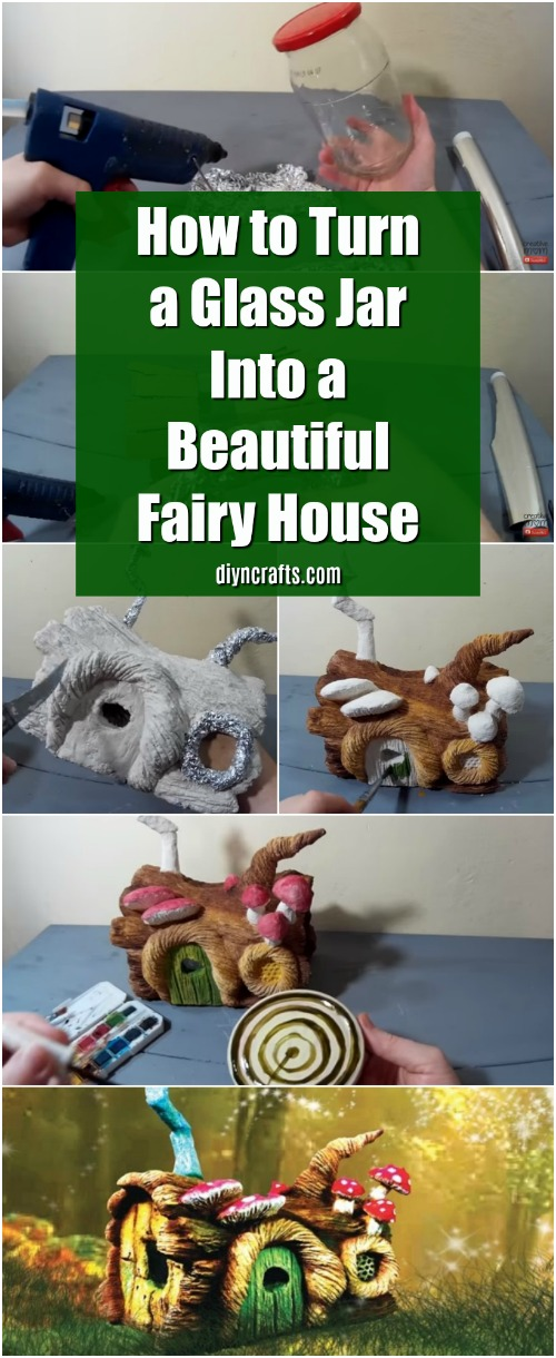 How to Turn a Glass Jar Into a Beautiful Fairy House {Video Tutorial}