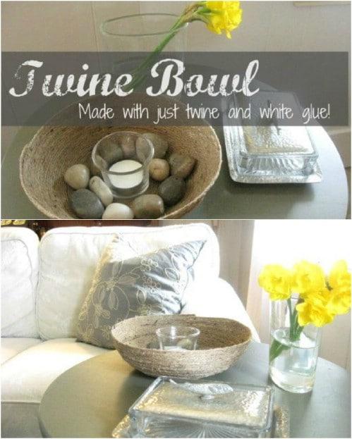 Easy DIY Twine Bowl