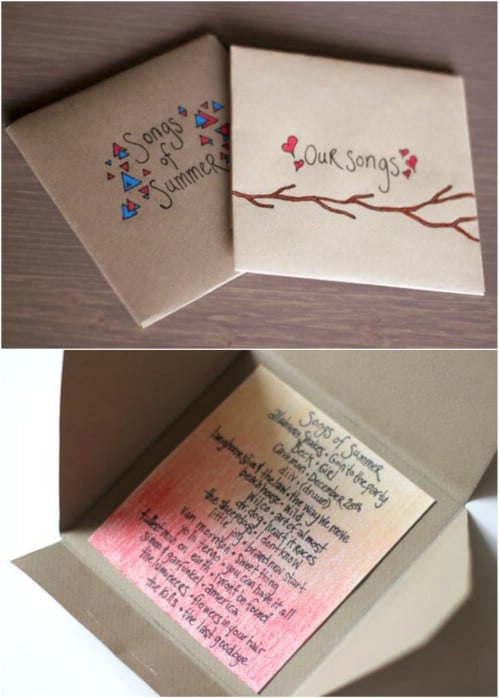 DIY Romantic Wedding Mixed Tape