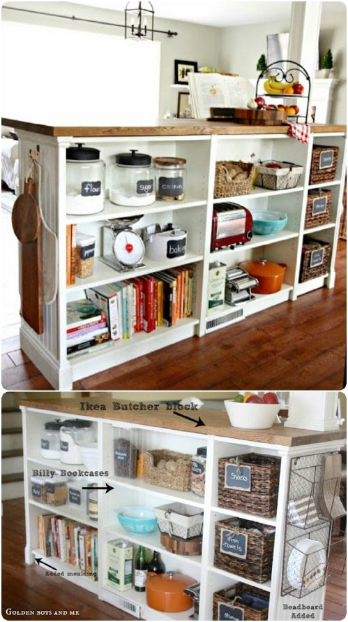 Bookcase Kitchen Island – IKEA Hack