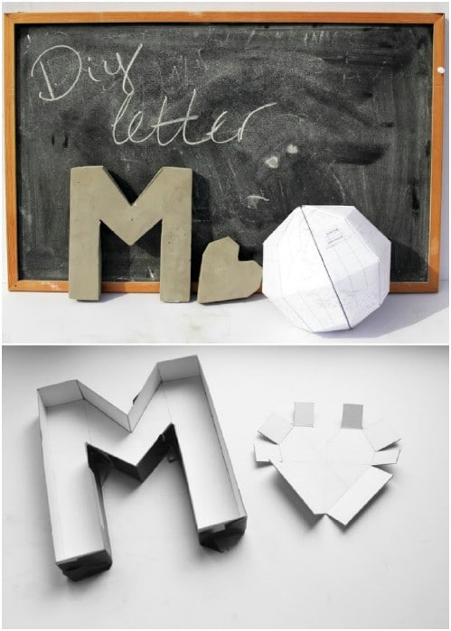 DIY Cement Monogram Letters