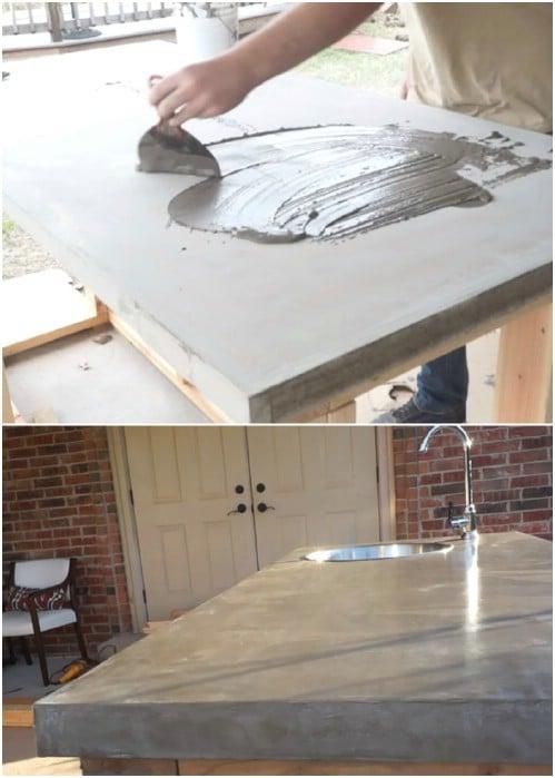 Easy DIY Concrete Countertops