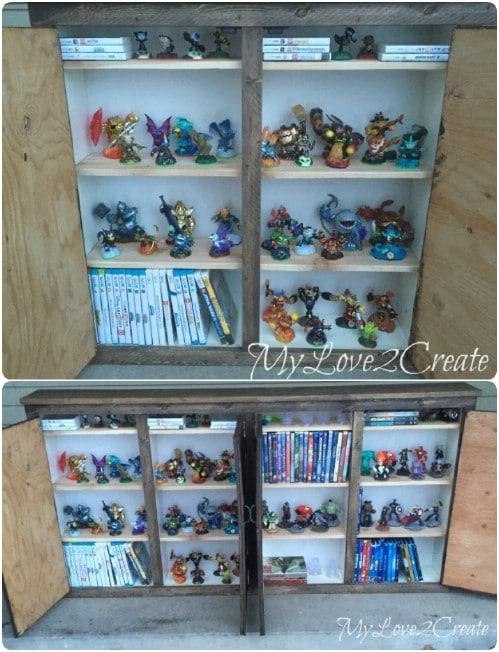 Upcycled Bookcase Media Cabinet
