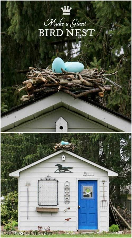Upcycled Twig Bird Nest Art