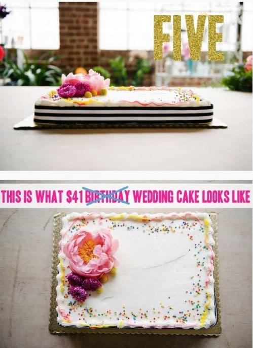 Grocery Store Wedding Cake Hack