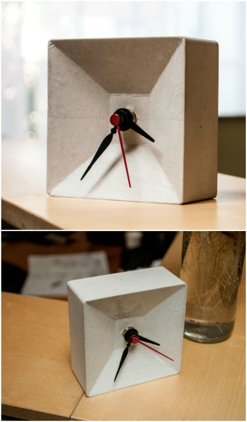 DIY Concrete Box Clock