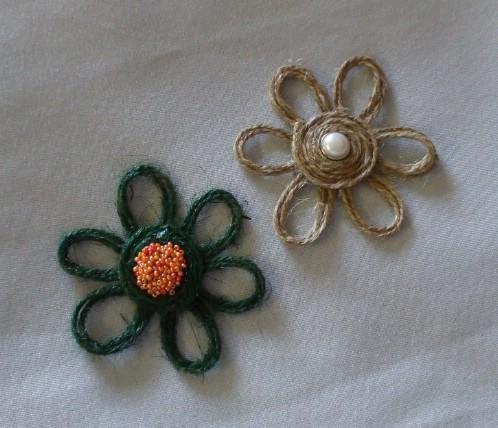 DIY Twine Flowers