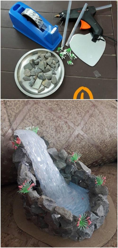 DIY Hot Glue Waterfall