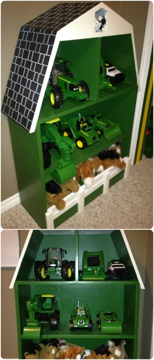 Upcycled Bookcase Play Barn