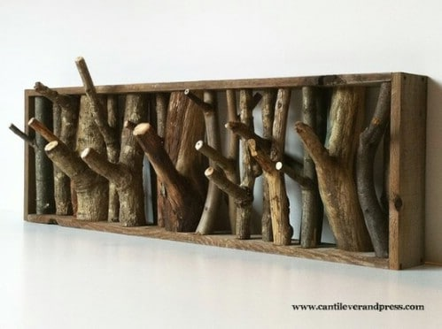 Upcycled Branch Coat Hanger