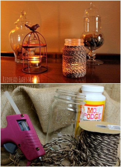 Repurposed Mason Jar Storage