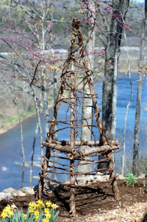 Rustic Twig Obelisk