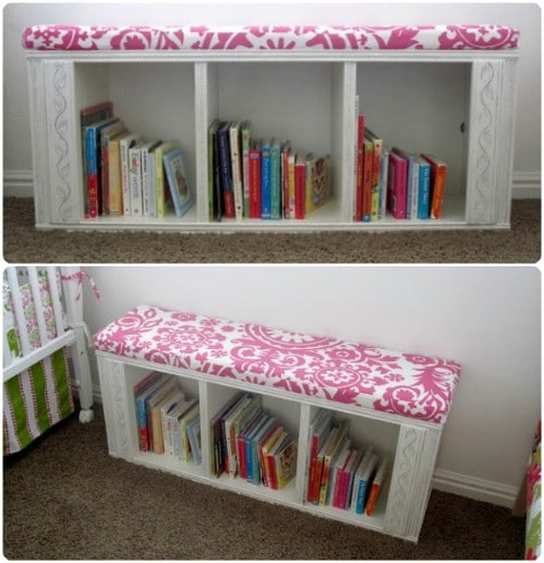 Bookcase Reading Bench Reuse Project