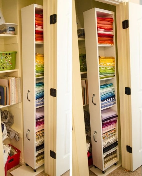 DIY Rolling Craft Storage