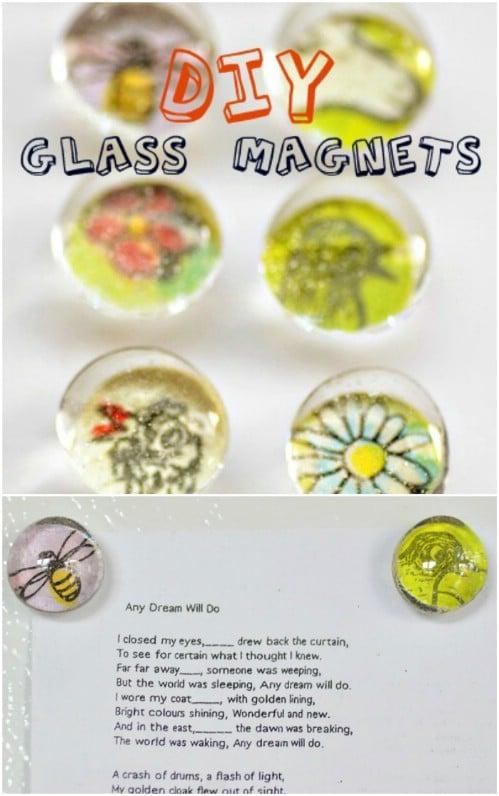 Glass Magnet Wedding Favors