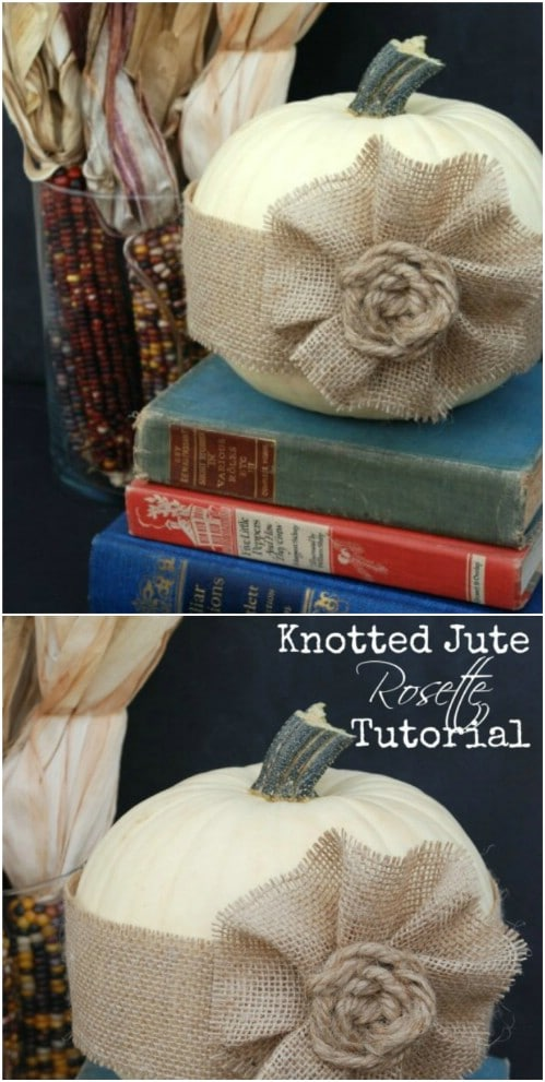Easy Knotted Burlap And Twine Rosette