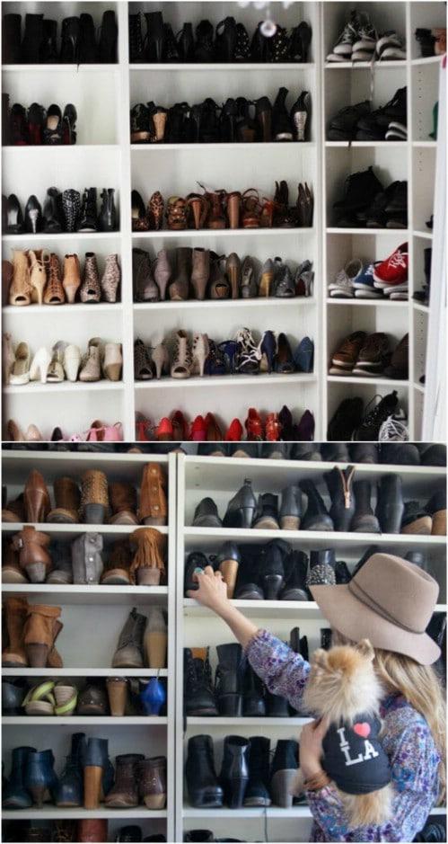 Easy DIY Shoe Storage