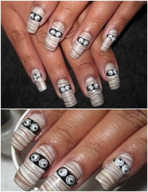 40 Frightening And Fun Halloween Nail Art Designs You Can Do