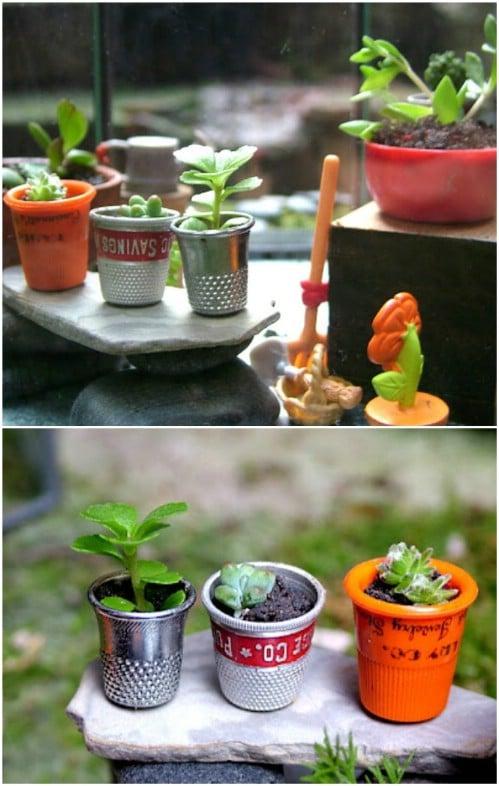 Tiny Thimble Planters