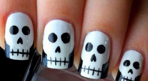 Simple DIY Skull Nails