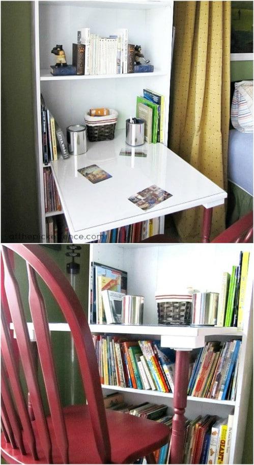 Upcycled Bookcase Desk