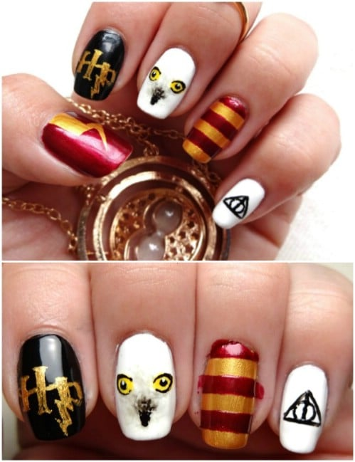DIY Harry Potter Nail Art