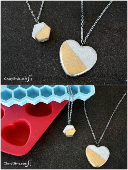 Gorgeous DIY Concrete Necklace