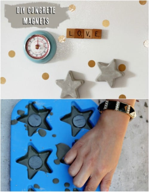Easy DIY Concrete Magnets