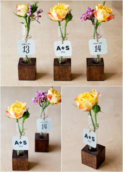 DIY Wood Bud Vases