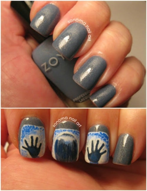 DIY Horror Movie Nails