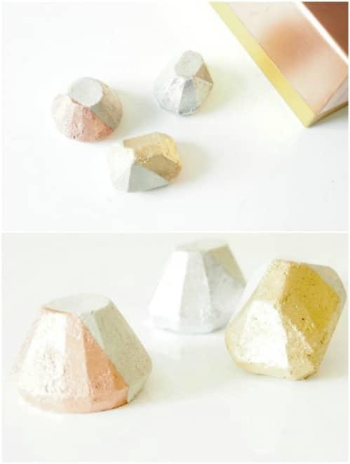 Hexagonal DIY Concrete Paperweight