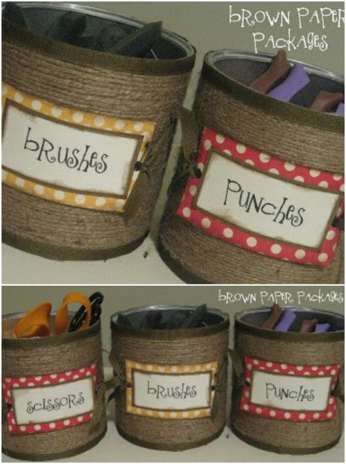 Upcycled Coffee Can Storage