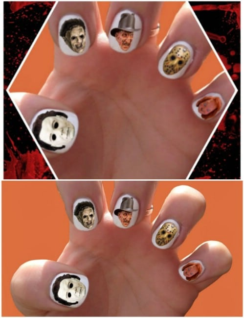 Horror Movie Inspired Nail Decals